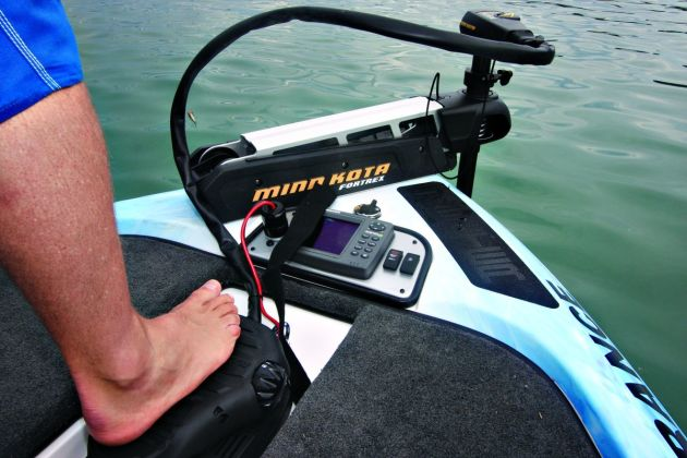 Being able to control the boat via foot pedal while also having a depth sounder in handy view is hard to beat!
