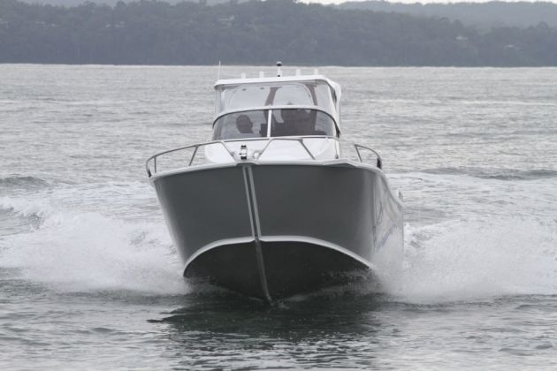 High sides ensure safe fishing offshore.
