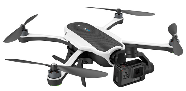 GoPro's new Karma quadcopter fitted with a Hero5.