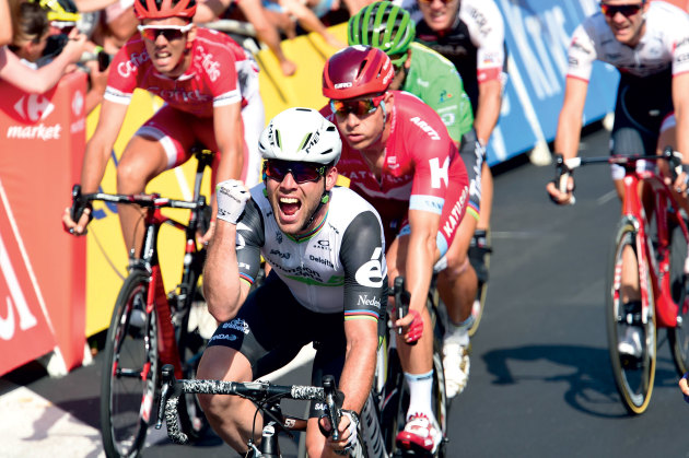 Cavendish has the explosive speed and grit to finish the job after a strong leadout.
