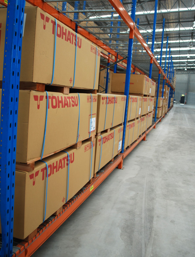 Room to move: the new warehouse makes the logistics of stock handling easier and more efficient.