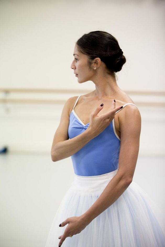 Rehearsing Maina Gieldgud's 'Giselle'. Photo: LYNETTE WILLS