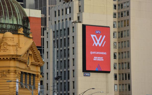 AFL Women's billboard