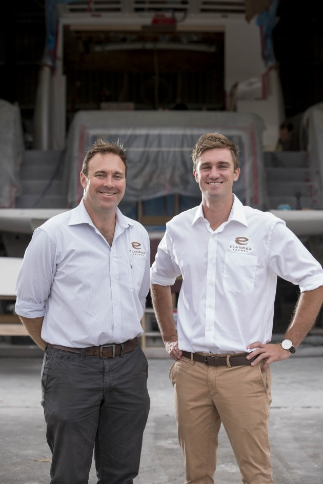 Back in the fold: Luke Durman and Tom Barry-Cotter at Elandra Yachts.
