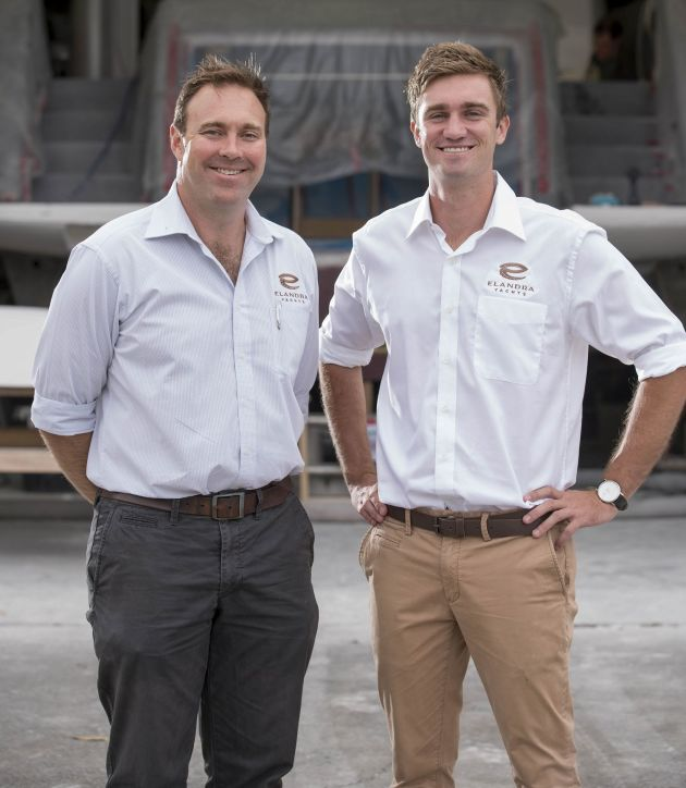 Come join us: Luke Durman and Tom Barry-Cotter at Elandra Yachts.