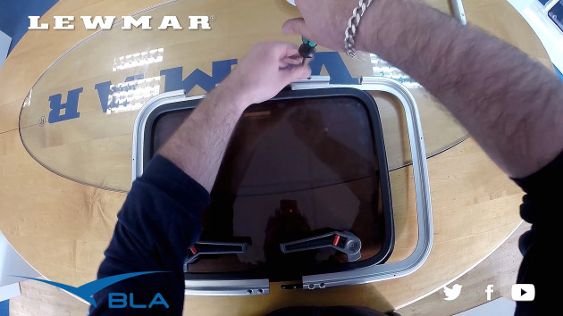 Watch Toby Price, Lewmar tech support engineer, as he demonstrates the ease of replacing the acrylic and the seal on a Lewmar hatch.