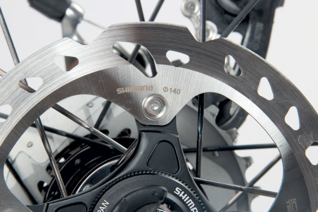 SRAM hydraulic disc brakes provide ample stopping power. too much sometimes.