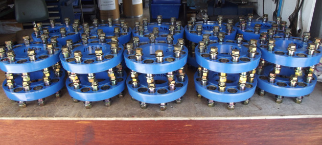 A recent consignment of Poly Flex couplings ready for shipping to South America.