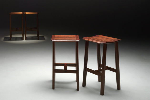 Waterfall-stools-in-jarrah-and-blackwood
