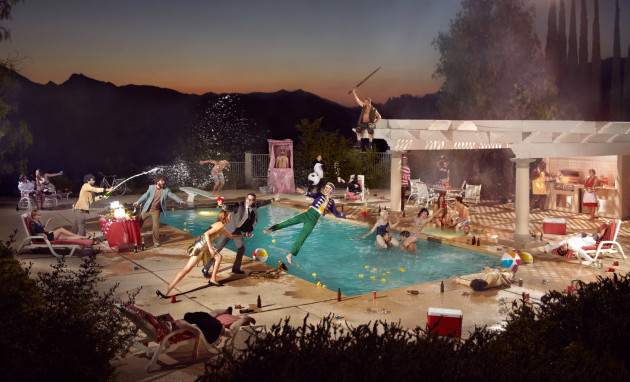 Pool Party: Phoot Camp 2010, Calabasas, California. Collaboration with Lauren Randolph and Ryan Schude.