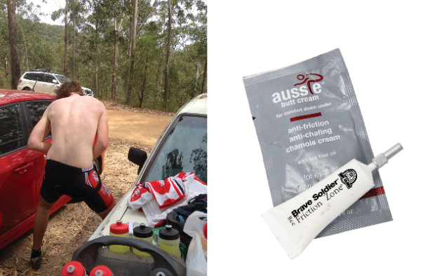 <p>Don't just worry about maintaining your bike, your body needs upkeep too. Help to prevent saddle sores and other 'down-there' problems by applying chamois cream before longer rides. They usually have antiseptic qualities, so in addition to making a ride more comfortable, they'll prevent future problems too.</p>