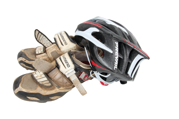 <p>Got a spare older helmet or shoes? Keep them in your car (but out of direct sunlight), as you never know when someone will arrive at the trailhead without, and that person could well be you!</p>