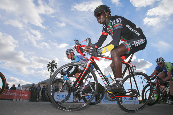 Paul Ngasike of the Kenyan Riders.