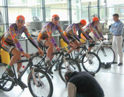 If it's good enough for the AIS, it's good enough for you-group indoor trainer sessions can increase the motivation level on these otherwise unexciting training sessions.