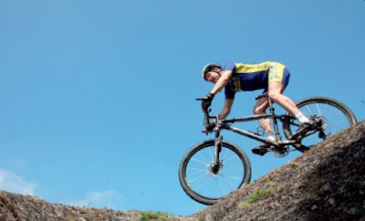Get your weight back behind the saddle on the descents