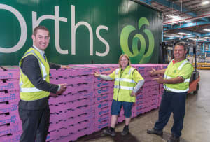 CHEP paints its pallets pink for breast cancer awareness
