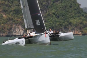 Fresh breeze on Day 1 of The Bay Regatta in Phuket