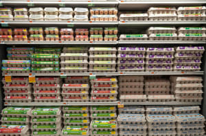 Grocery data shows steep rise in egg sales