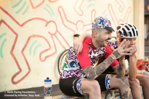 Haven and Keith Haring cycle up with Attaquer
