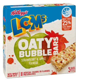 Kellogg cuts sugar content of LCMs bubble bars
