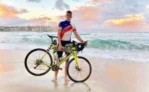 VIDEO: Lochie Kavanagh Arrives In Sydney After Cycling Across Australia