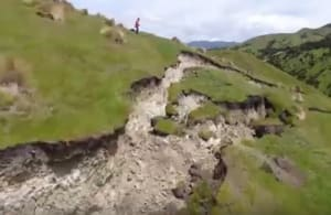 Drone reveals earthquake damage in New Zealand