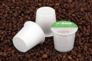 A coffee capsule material made for composting