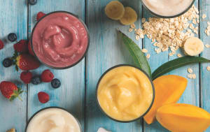 Frozen fruit blends offer fast smoothies