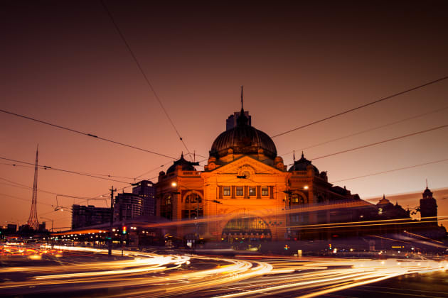 Flinders Station. Always a popular building in Melbourne for doing light trails. Nikon D800, 14-24mm f/2.8 lens, 3s @f16, ISO 50.
