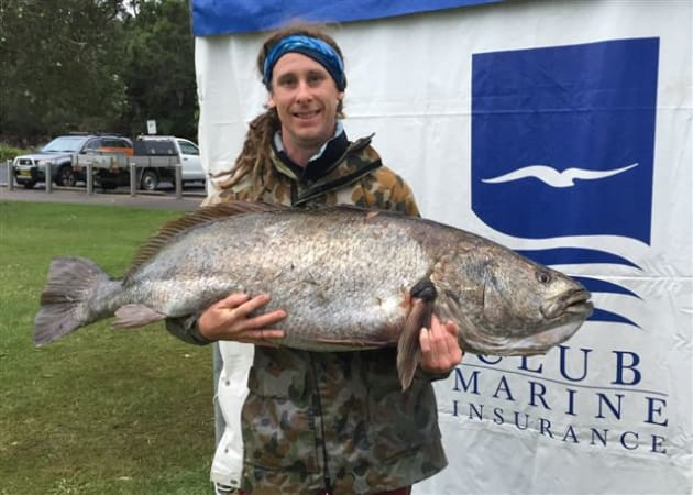 Fisho writer Paul Lennon with his 30.778kg mulloway.