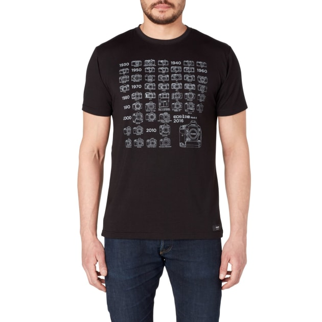 T-shirt £28.99 ($47AUD) With a timeline of iconic Canon cameras.
