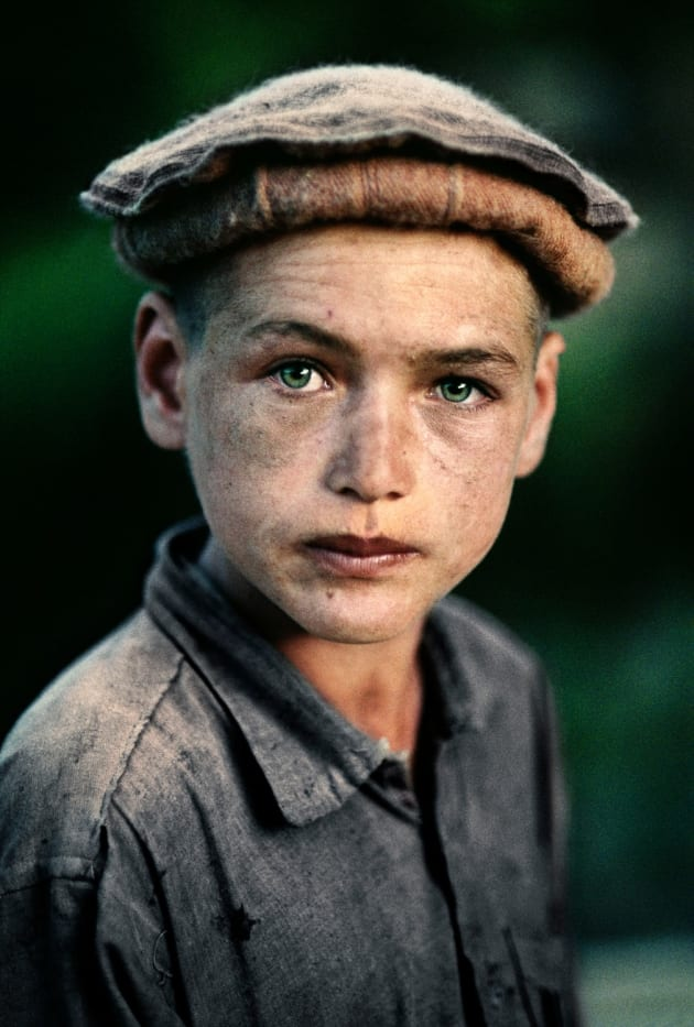 Nuristan province, 1992. A young village boy in northern Afghanistan.