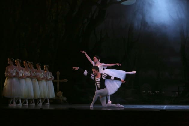 The author as Albrecht with Rachael Walsh in the title role of the Queensland Ballet's 2013 'Giselle'. Photo: DAVID KELLY