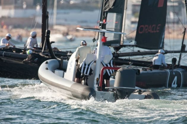 OCA's Splash cover will be fitted to the America's Cup support vessels.