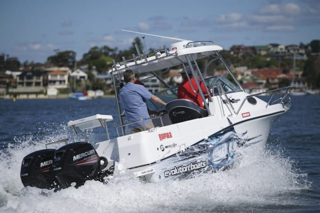 Active Trim, seen here on Lee Rayner's boat, makes driving simple without loss of performance.