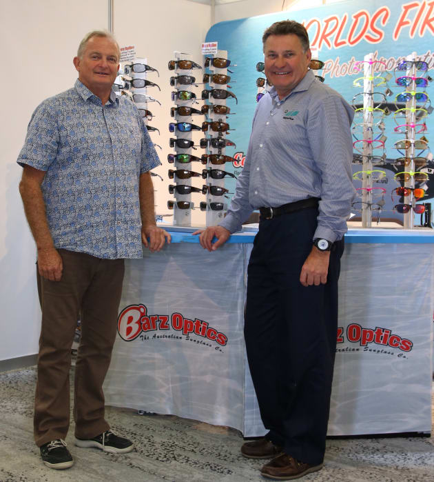 Kevin Barr (left) and Scott Miller (right) at the Marine17 trade show and conference at Darling Harbour.
