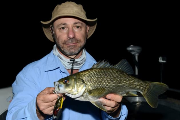 Mick with a nice specimen just after dark.