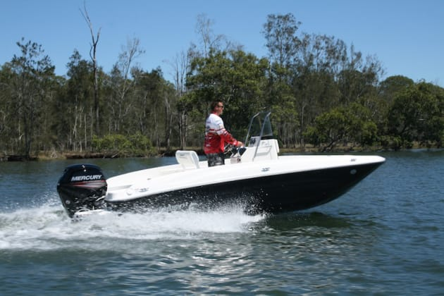 Bayliner's Element F18 is a dedicated fishing boat, a departure from the company's extensive leisure boat line up.