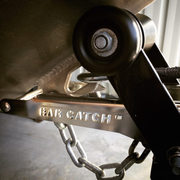 Bar Crusher's Bar Catch system makes solo launching and retrieving a breeze.