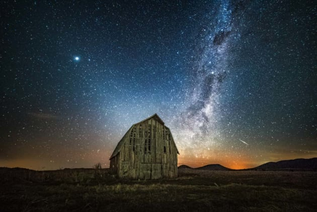 The 'Superman' barn in Breeza, NSW. We received permission from the owners to shoot here and were treated to a great display of the stars before sunrise. This image was taken in the second week of January showing that the Milky Way can be photographed quite early in the year if you're prepared for a 3am wake up! Sony A7S, Samyang 14mm f/2.8 lens, 25s @f/2.8, ISO 8000, tripod.