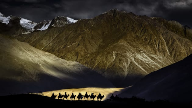 Nick Melidonis travelled to Ladakh in Northern India with the hope of capturing the remote monasteries in the high Himalayan region for this shot.