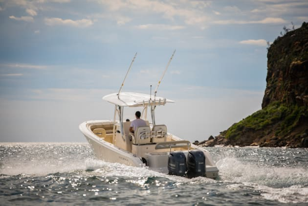 Cobia Boats offers a great option for the serious fisho looking for a few additional family features.
