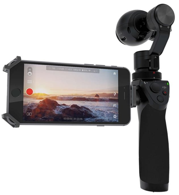 The DJI Osmo is designed to shoot stable video hand-held.