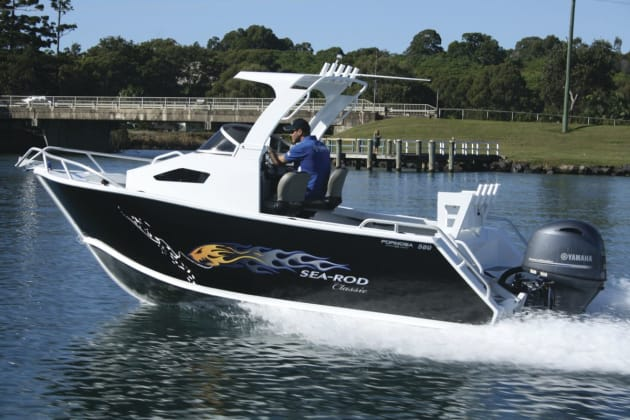 Yammie's new 130hp four-stroke is a good match providing plenty of power and economy.