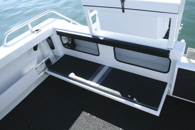 Formosa now offers several transom configuations from fully enclosed to fully open.