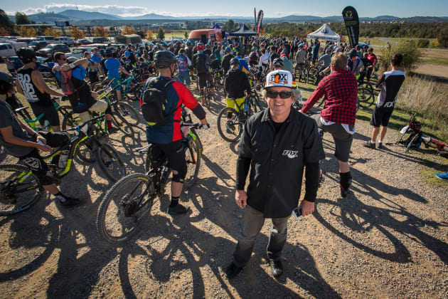 Fox Australia - headline sponsor mingling with the crowds at Stromlo. Photo: OuterImage.com.au