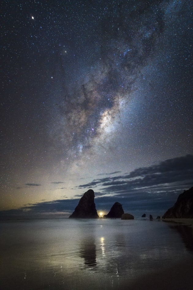 Glasshouse Rocks, Narooma, NSW. The first night of our Astrophotography workshop in Narooma looked to be cloudy. We gave up on the shoot to have dinner, only to be greeted with clear skies when we returned. The milky way aligned with the moon, lighthouse and the rocks made for an incredible sight. Sony A7RII, Canon 24-70mm f/2.8 II, 13 sec @ f/2.8, ISO 4000, tripod.
