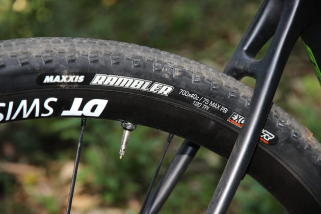 Once setup tubeless, we were able to run the 40c tyres as low as 25psi for loads of traction and comfort.