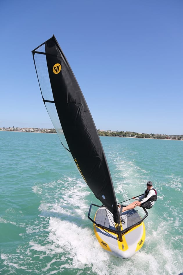 TIWAL 3.2 inflatable sailing dinghy.