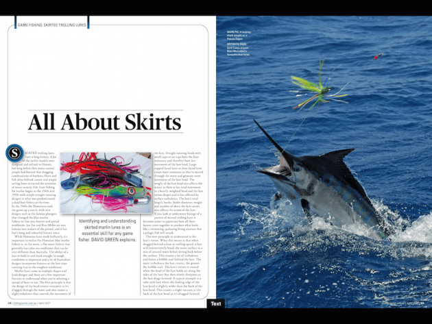 Identifying and understanding skirted marlin lures is an essential skill for any game fisher. Greeny explains.
